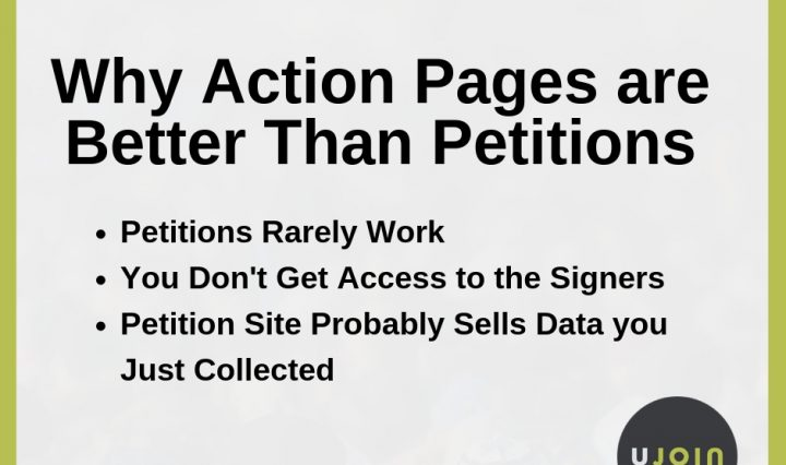 action pages are better than petitions